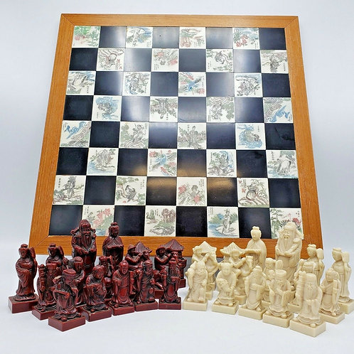 Decorator Asian Style Chess Set w/ Resin Pieces