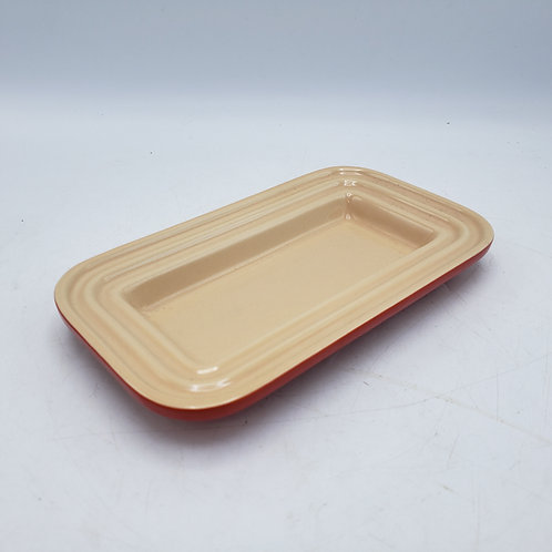 Red Le Creuset Butter Dish No Lid