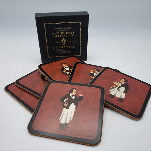 Williams-Sonoma Guy Buffet Les Garcons 6 Coasters