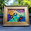 Thumbnail: Original Modern Abstract Artwork in Plein Art Style Gold Frame ~ Multi Colored