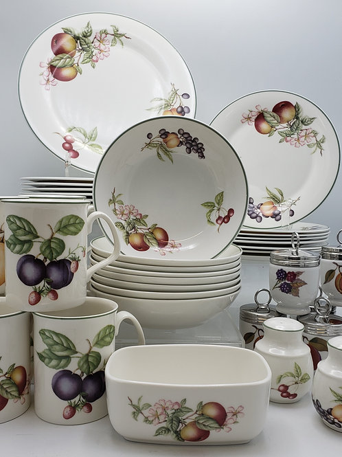Royal Worcester Evesham 50 Piece Set with Plates, Bowls & Mugs  and More!