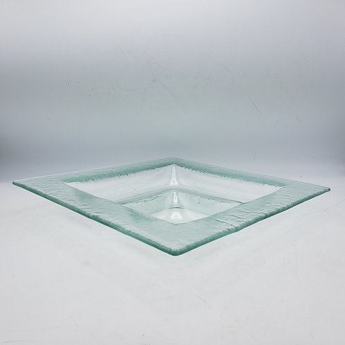 Vintage Kosta Boda Style Divided Dish / Tray - Chips and Dip