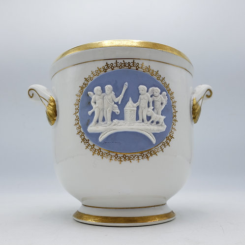 Vintage Royal Woodward Porcelain Cache Pot with Handles
