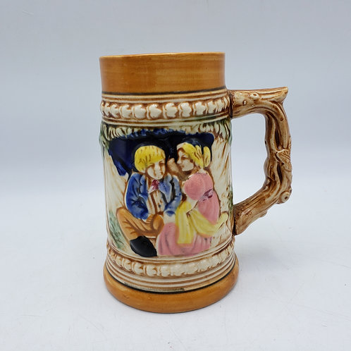 Vintage Beer Stein with Couple