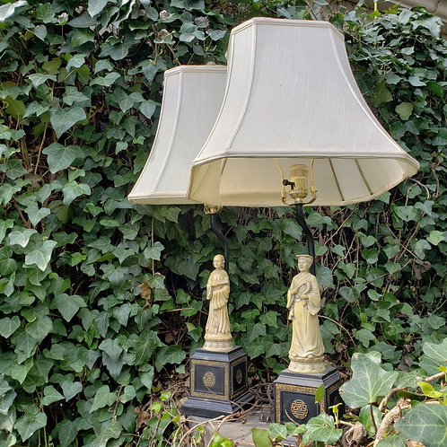 Pair of Vintage Chinese Decorator Lamps
