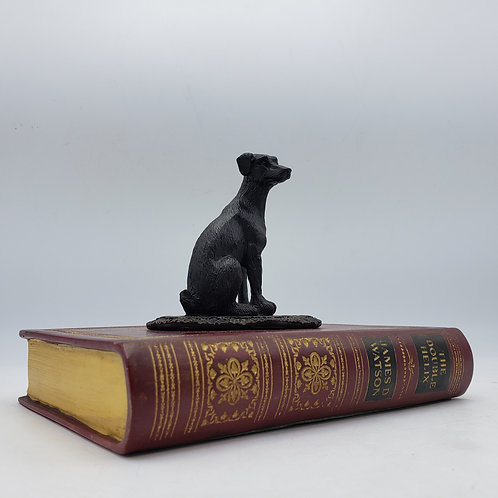 Theodore Alexander Faux Bronze Dog on Leather Book