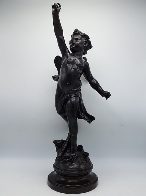 Large Bronze Cupid Figure by Maitland Smith
