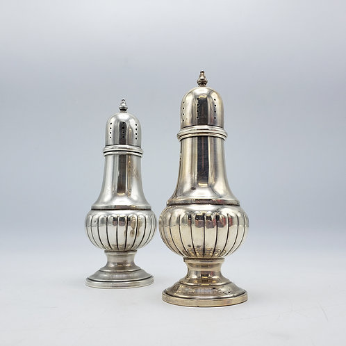 Pair of Vintage Sterling Silver Salt and Pepper Shakers