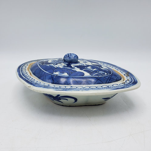 Antique Chinese Bowl Famille Rose Begonia Low Bowl - Horchow Collection