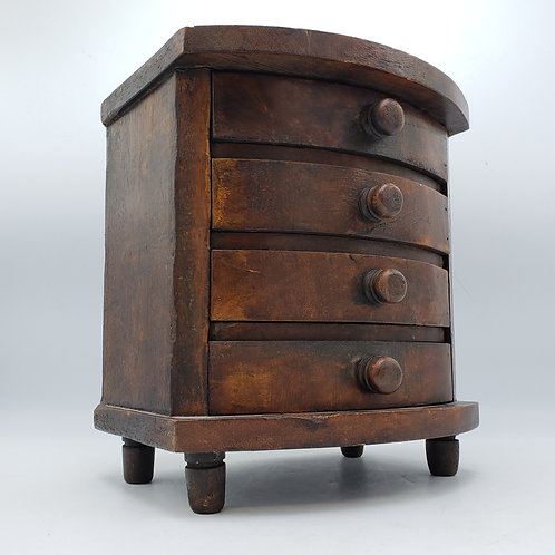 Miniature Bow Front Chest of Drawers