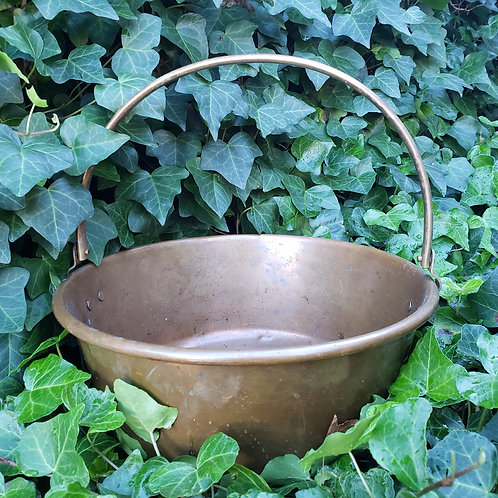 Large Vintage Copper Bucket with Handle