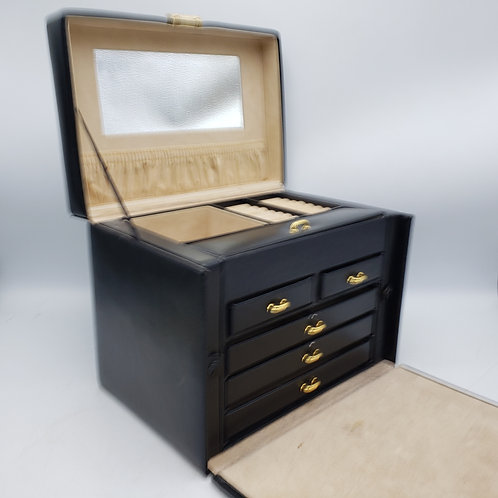Black Handled South Molton Jewelry Box by Wolf Designs Jewelry Box
