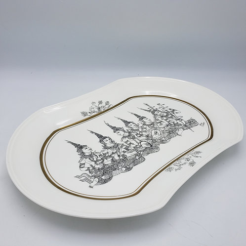 Mikasa Bone China Plate by Gloria Nelson - Thai Musicians