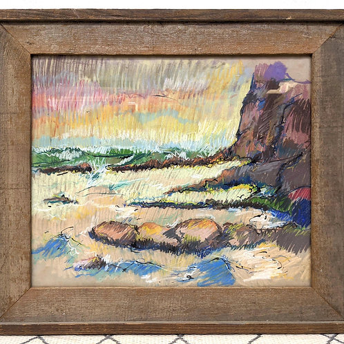 Impressionist Pastel Painting in Frame