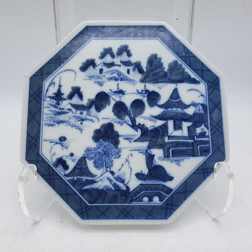 Blue Canton Mottahedeh Historic Charlestown Reproductions Octagonal Tile