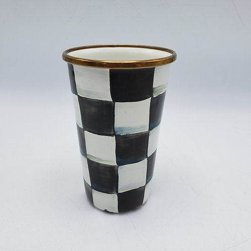 Small MacKenzie-Childs Courtly Check Drinking Cup