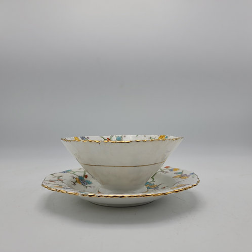 Royal Stafford Teacup & Saucer - Butterfly, Branches and Flowers