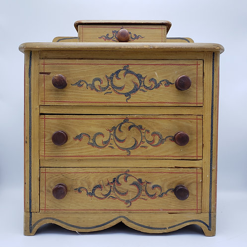 Antique Paint Decorator Miniature Chest of Drawers