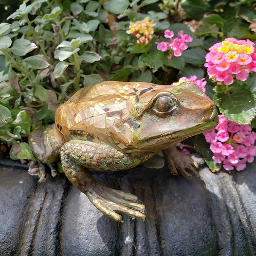Maitland Smith Frog with Bronze Feet