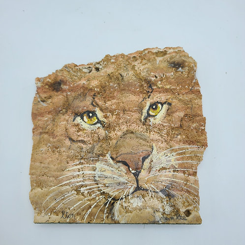 Signed Original Painting On Granite Stone By Artist Nan Lee