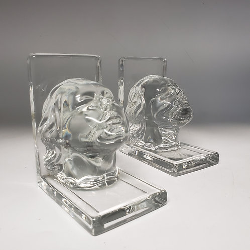 Glass Face Bookends