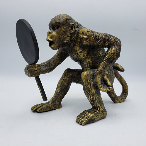 Resin Monkey Figure with Mirror