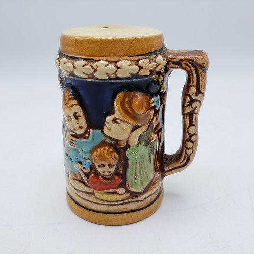 Vintage Beer Stein Form Shaker with Family