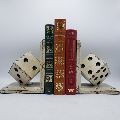 Pair of Wooden Dice Bookends
