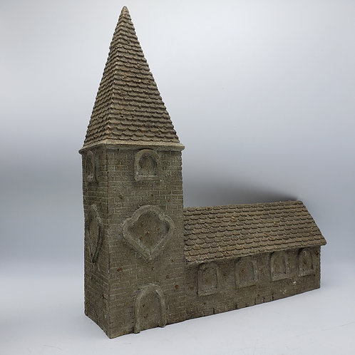 B D Miniature Resin Building ~ Church with Steeple