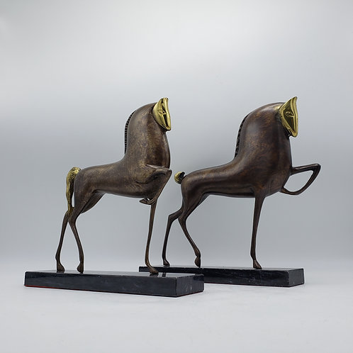 Bronze Etruscan Horse Sculptures in the Manner of Boris Lovet-Lorski