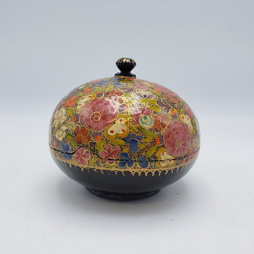 Vintage Paper Mache Trinket Box from India