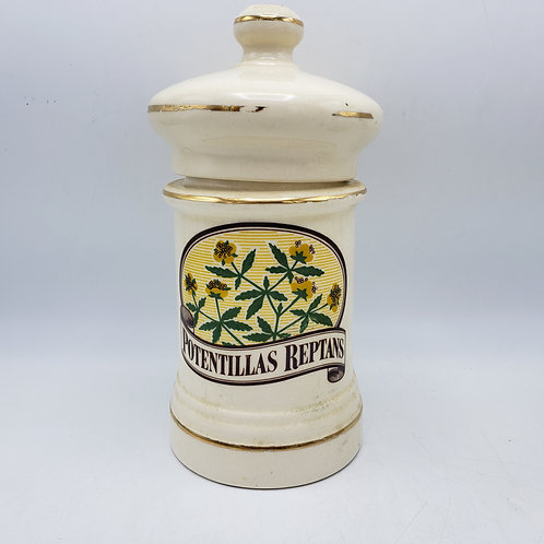 Vintage Nux Vomica Apothecary Jar Made in USA