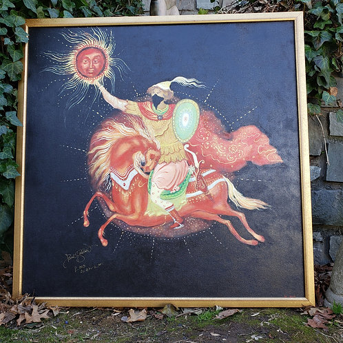 Large Signed Jefferson Starship Painting on Canvas - Paul Kantner