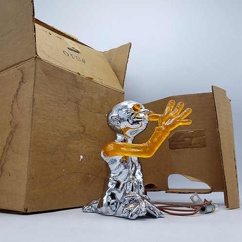"""1950's """"Jester"""" Automobile Car Hood Ornament with Box Chrome & Plastic Lights Up"""