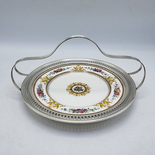 Wedgwood Columbia White Sterling Silver Mounted Dish