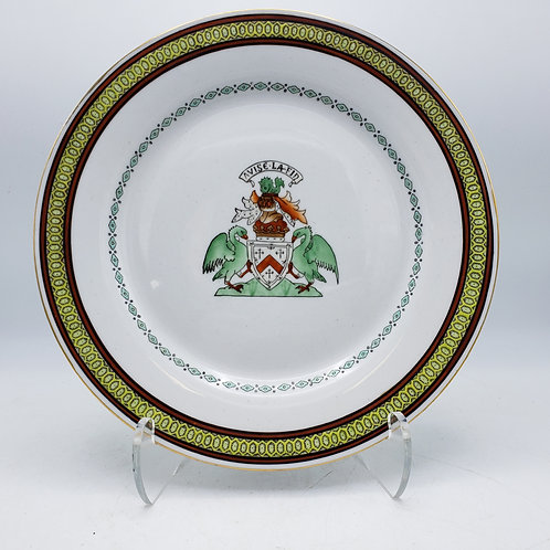 Antique Chinese Export Armorial Porcelain China Plate Avise La Fin Kennedy Clan