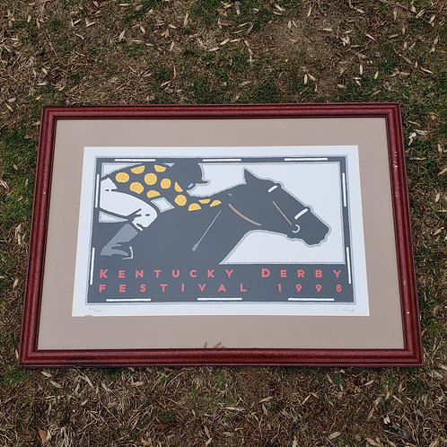 1998 Kentucky Derby Festival Poster Framed and Matted