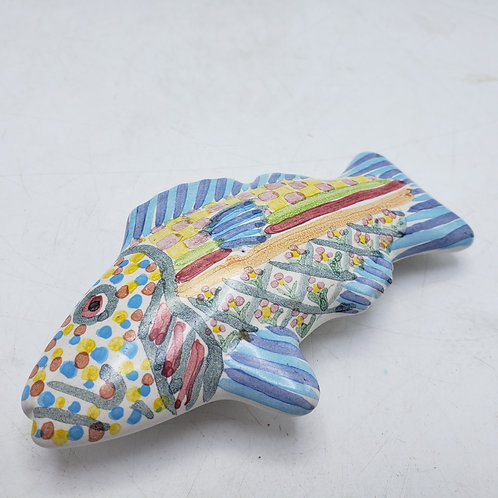 MacKenzie Childs Fish Cabinet Pull with Blue Fin
