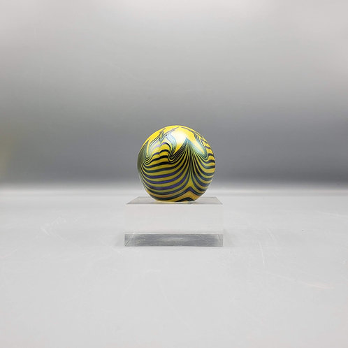 Art Glass Paperweight on Lucite Stand
