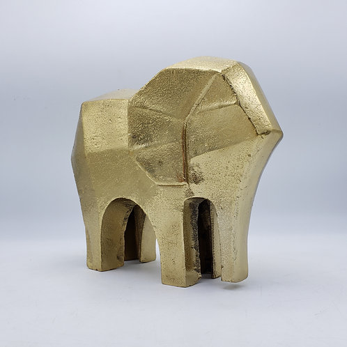 Modern Gold Metal Elephant Figure