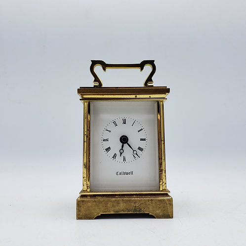 Vintage Brass Carriage Clock - JE Caldwell
