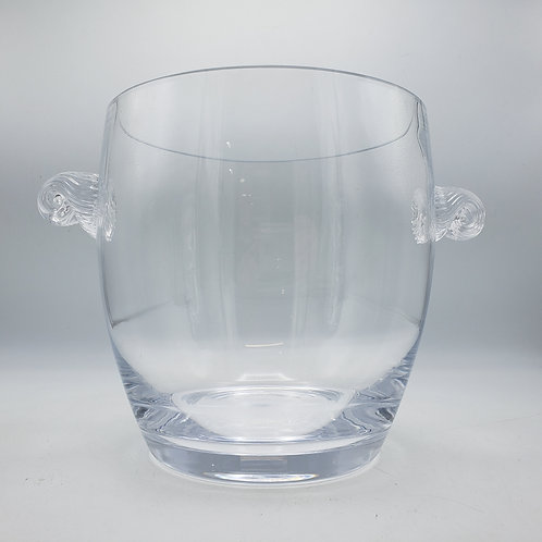 Vintage Crystal Ice Bucket with Applied Handles