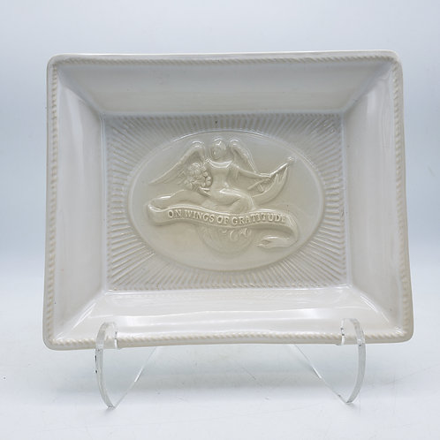 """Juliska On Wings of Gratitude Stoneware Tray """" A World of Thanks to You"""