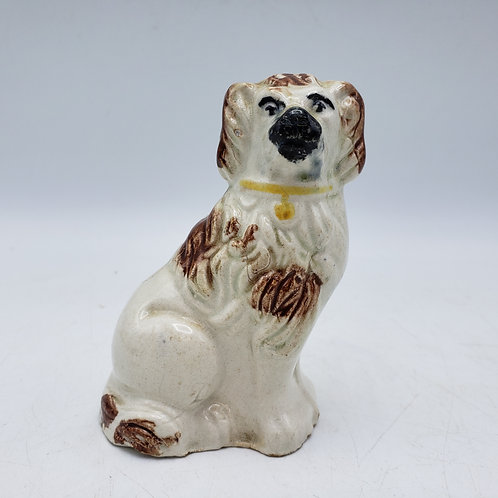 Miniature Hand Painted Staffordshire Style Dog Brown Spots