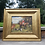 Thumbnail: Fox Hunting Painting on Canvas in Gold Gilt Frame