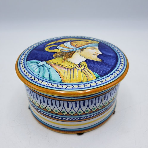 Hand Painted GP Gialletti Pimpinelli  Deruta Lidded Box - Made in Italy