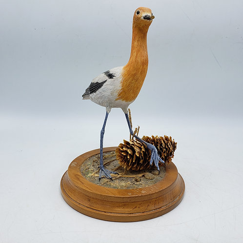 Signed Handcarved Wooden Avocet Bird Figure by Al Riehl