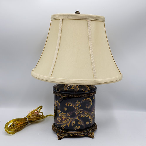 Wong Lee Bronze Mounted Porcelain Lamp with Shade