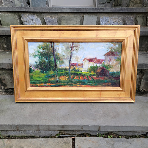 Beautiful Impressionist Oil Painting in Plein Air Frame