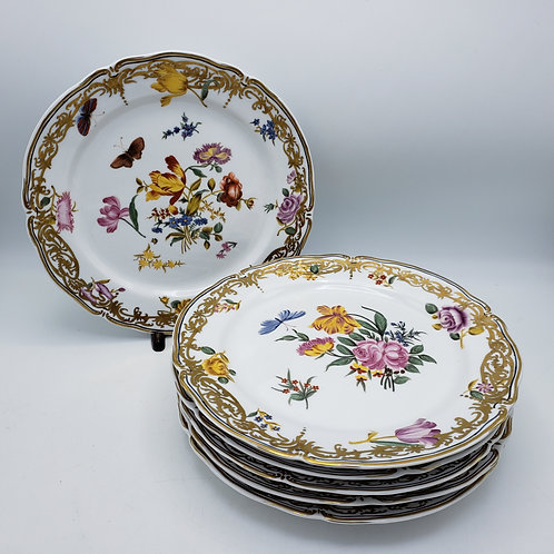 Set of 6 Floral Porcelain Decorative Plates from Chelsea House
